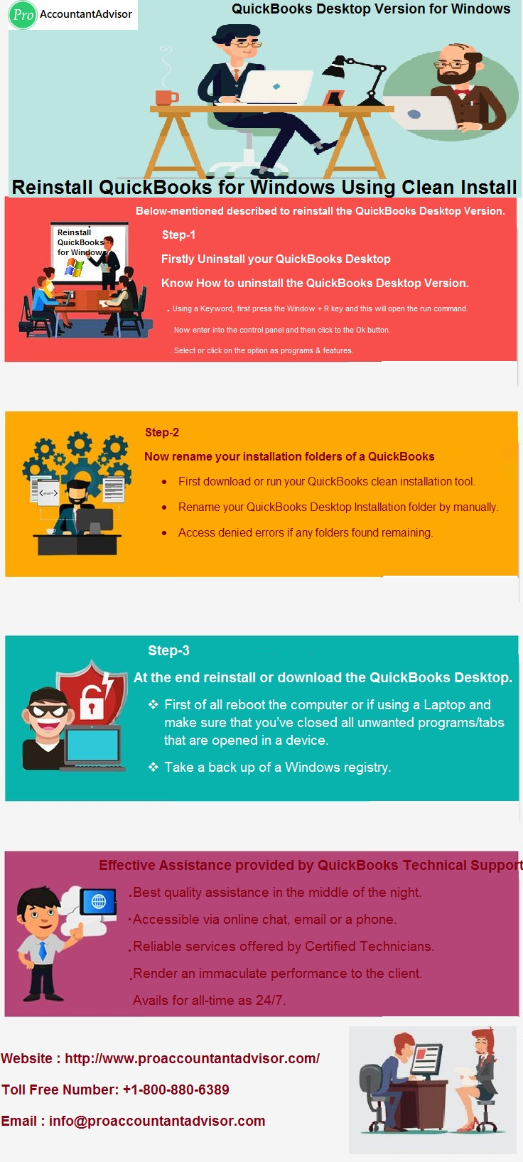 Reinstall QuickBooks for Windows Using Clean Install Infographic [Pro Accountant Advisor]