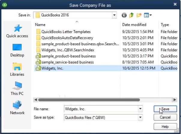 Restoring QuickBooks Files