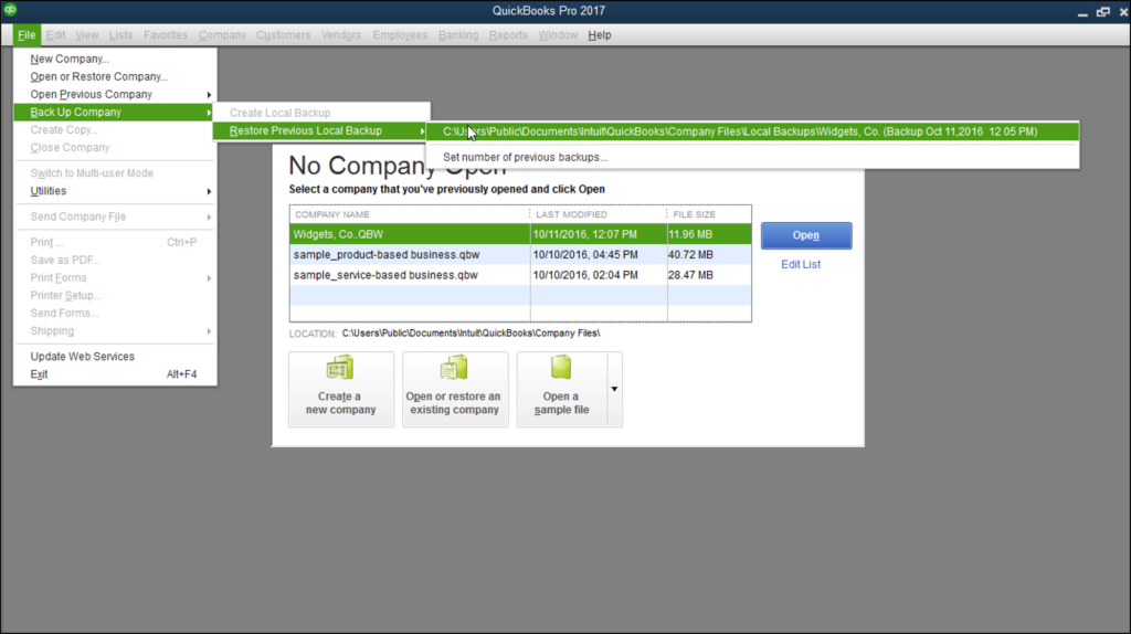 Save a type field automatically populates QuickBooks Files