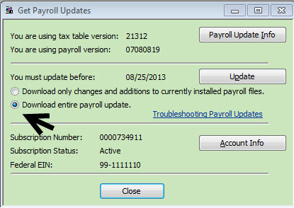 download payroll table