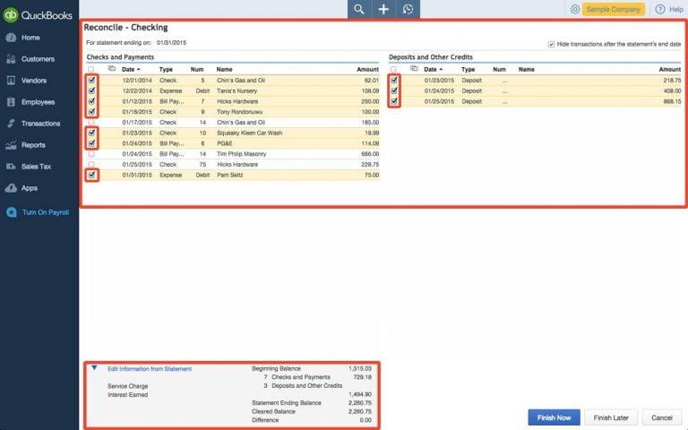 match the entire transactions - screenshot