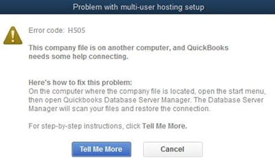 quickbooks error code h505 - screenshot