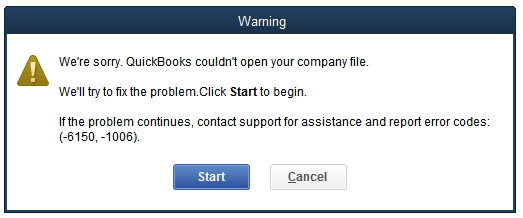 quickbooks error message 6150-1006