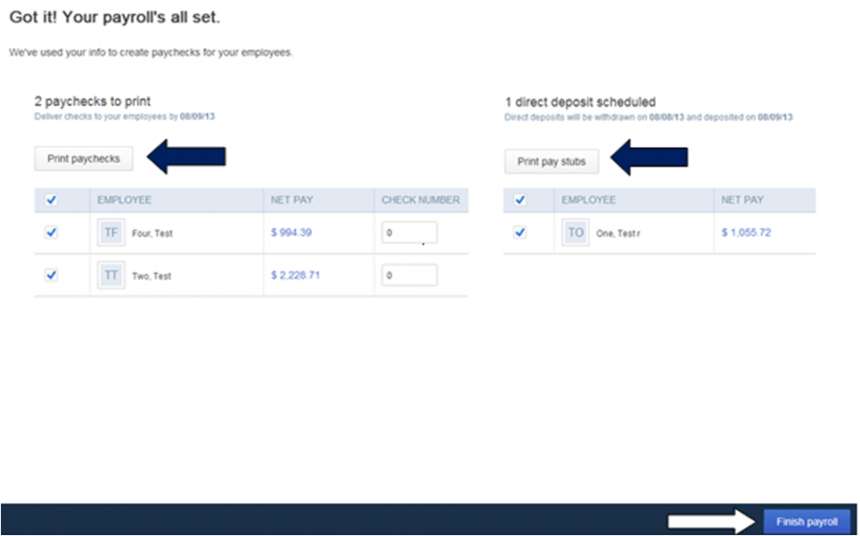How to create one-time payroll check in QuickBooks Online - Step 5