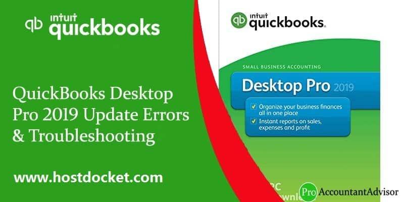 QuickBooks Desktop Pro 2019 Update Errors -Troubleshooting