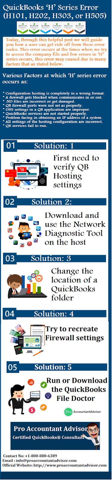 QuickBooks H Series Error (H101, H202, H303, or H505) Codes -Pro Accountant Advisor (Infographic)