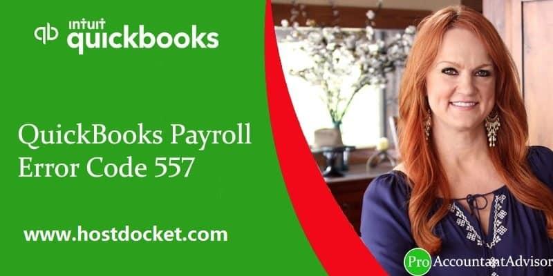 QuickBooks Payroll Error Code 557