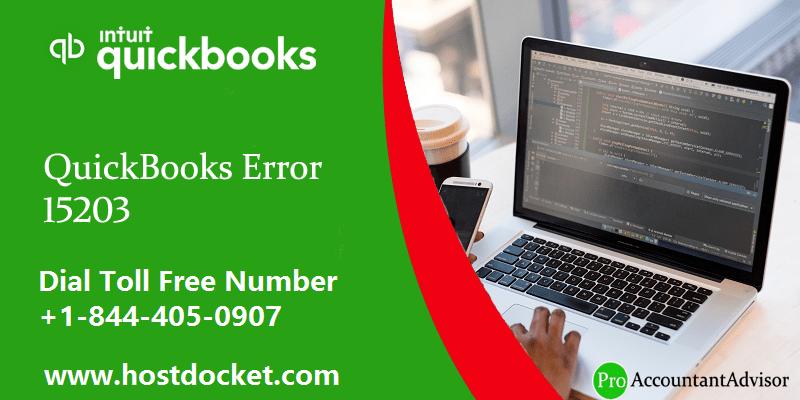 What is QuickBooks Error 15203 - Featured Image