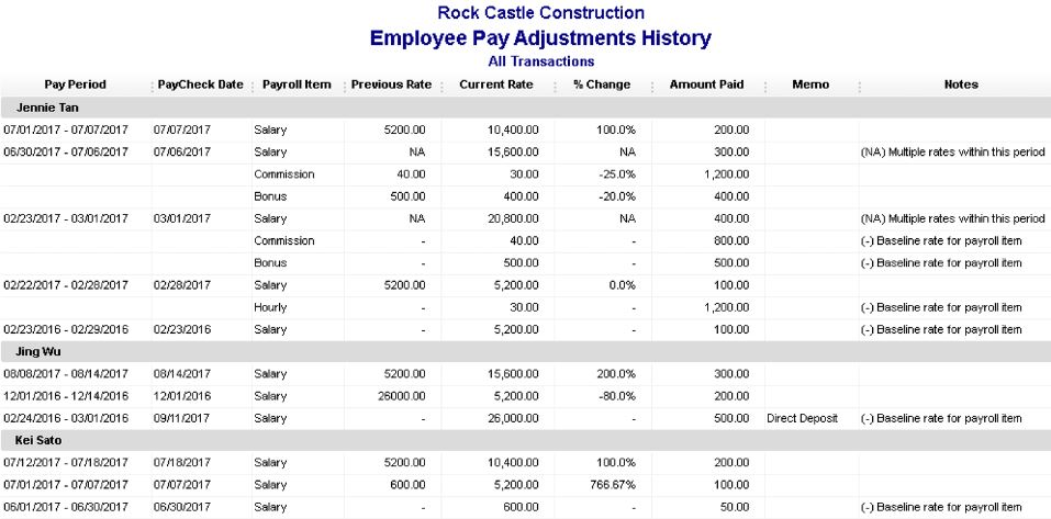Employee Pay Adjustment History - New Features in QuickBooks Desktop 2019