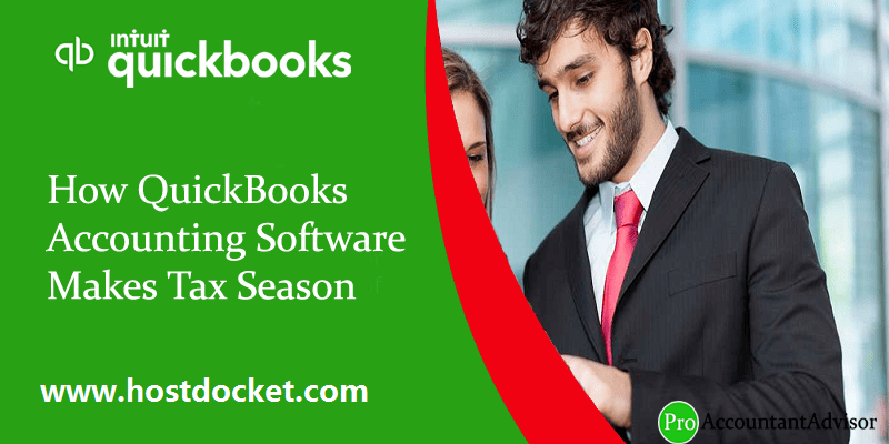 How QuickBooks Accounting Software Makes Tax Season Easy?