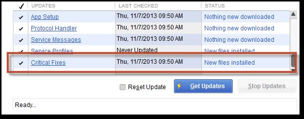How to update quickbooks - Ultra light Patch (Screenshot)