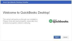 Install the QuickBooks desktop - Screenshot