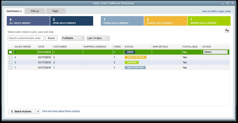 Sales Order Worksheet - New Features in QuickBooks Desktop 2019