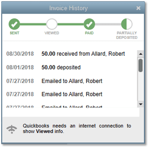 Track Invoice History - New Features in QuickBooks Desktop 2019