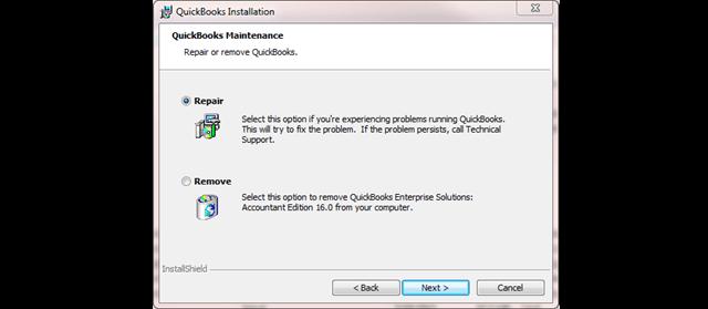 Repair Your QuickBooks Desktop - Screenshot