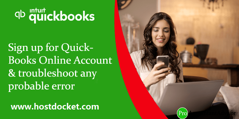 Sign up for QuickBooks Online Account & troubleshoot any probable error - Featured Image