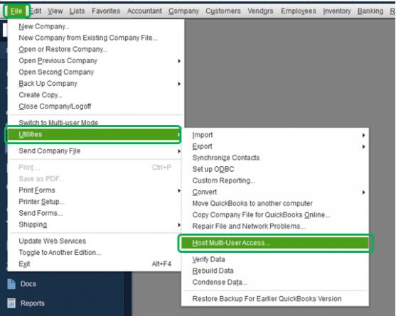 Check the hosting status of QuickBooks - Screenshot