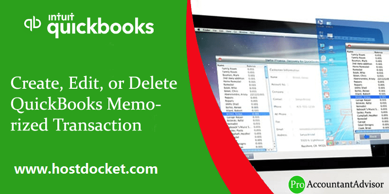Create, Edit, or Delete QuickBooks Memorized Transaction