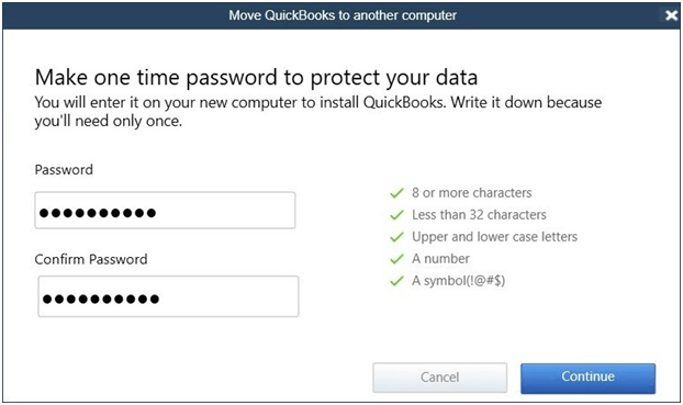 Move QuickBooks to another computer - Screenshot 2