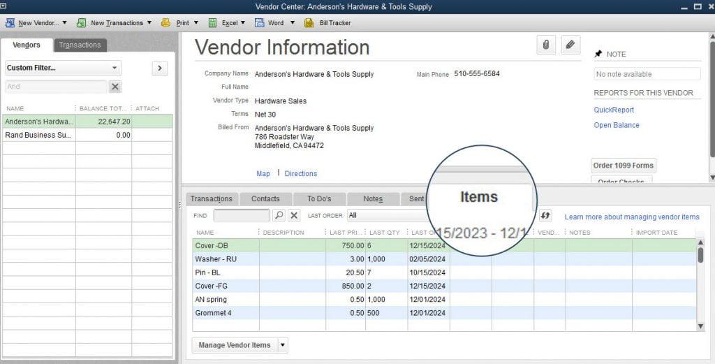 Alternate vendors feature - Screenshot 1
