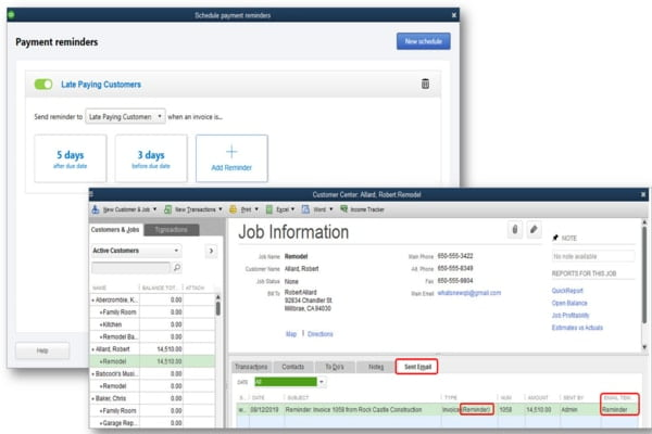 Automated payment reminders feature in QuickBooks desktop 2020 - Screenshot 1