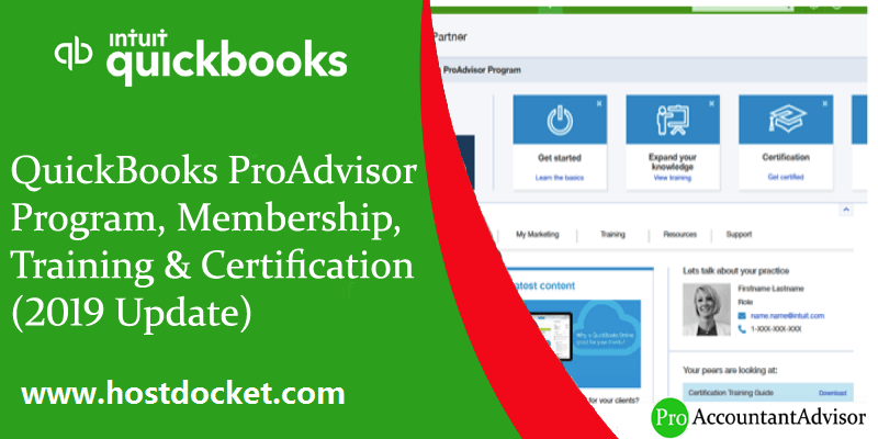 QuickBooks ProAdvisor Program, Membership, Training & Certification (2019 Update)