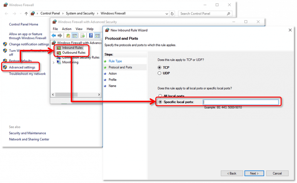 Add Firewall port exception for QuickBooks desktop - Screenshot