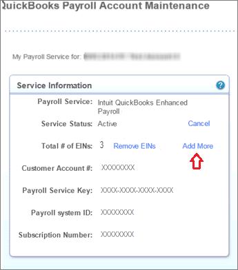 Adding EIN to your company file - Screenshot