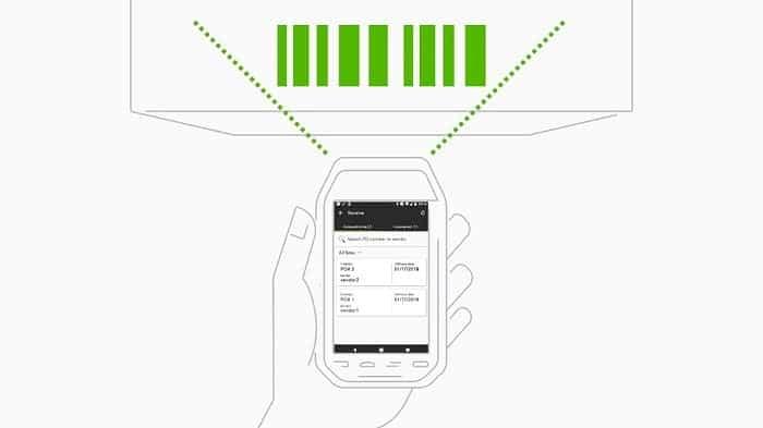 Inventory barcode scanner - Screenshot
