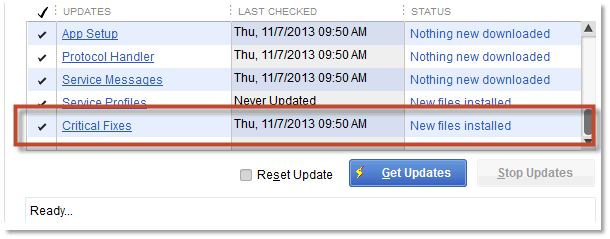 Use QuickBooks latest release version - Screenshot