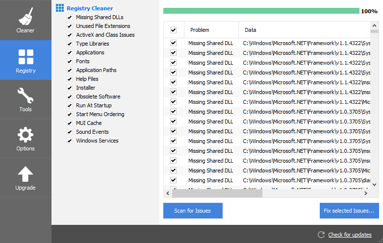 Repair Windows Registry Entry - Screenshot