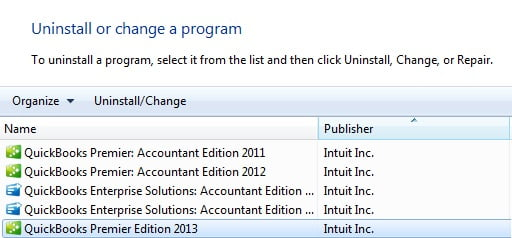 Uninstall and reinstall the QuickBooks file or program - Screenshot