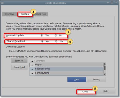 Update QuickBooks from Main Menu - Screenshot 2