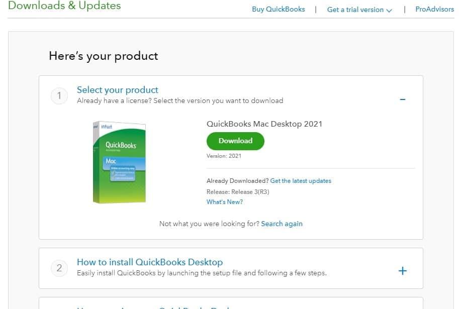 Download QuickBooks desktop for Mac 2021 - Screenshot Image