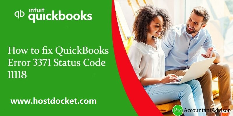 How to fix QuickBooks Error 3371 Status Code 11118
