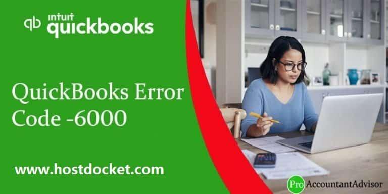QuickBooks Error Code-6000