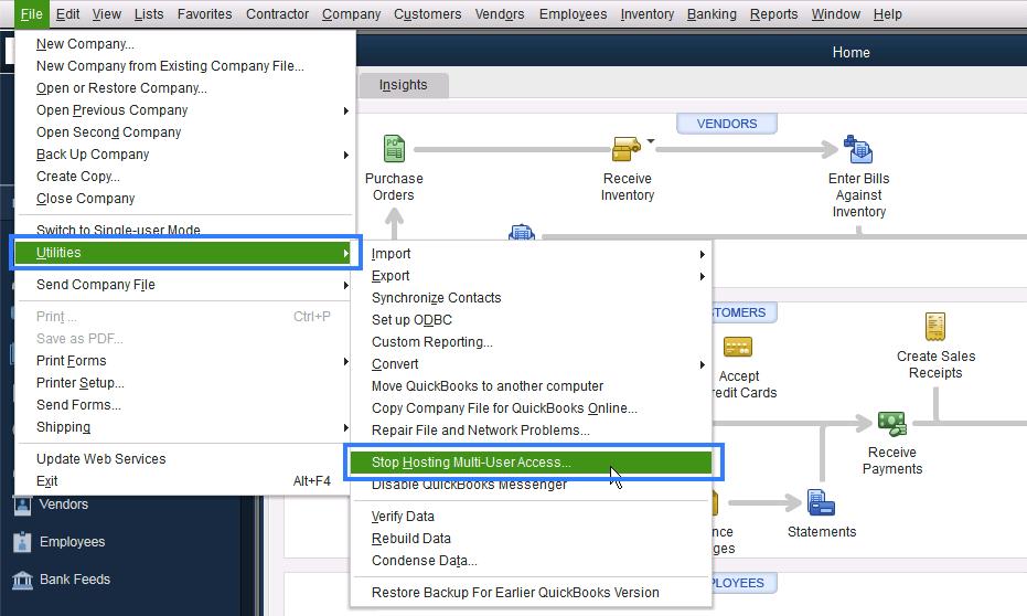 Stop Hosting Multi-User Access - Screenshot