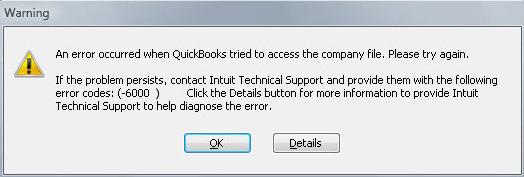 error code 6000- screenshot