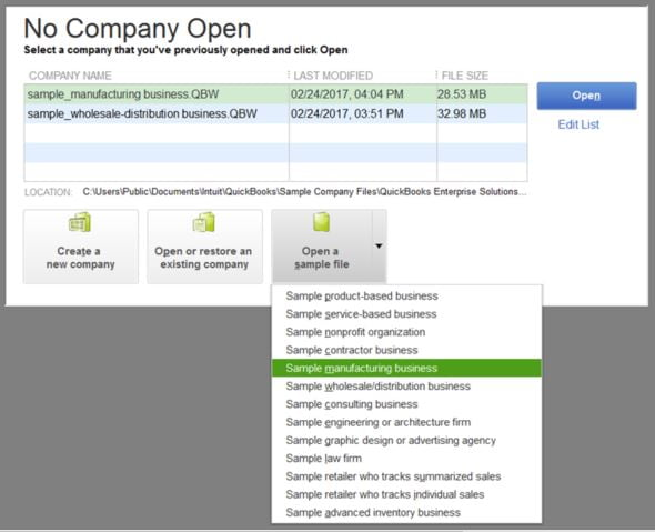 sample company file-screenshot