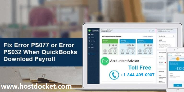 Fix Error PS077 or Error PS032 When QuickBooks Download Payroll Updates