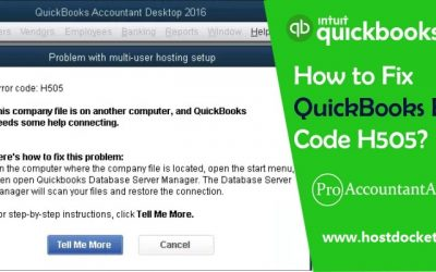 How to Fix QuickBooks Error Code H505?