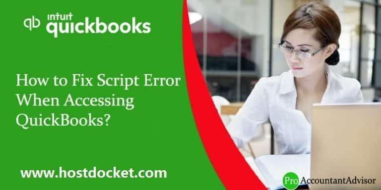 How to Fix Script Error When Accessing QuickBooks