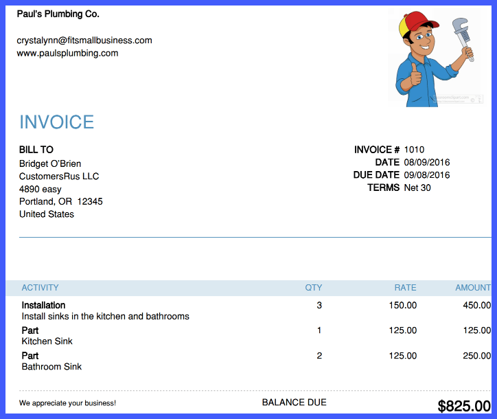 Invoice Customers - Screenshot