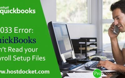 How to Fix PS033 Error: QuickBooks Can't Read your Payroll Setup Files