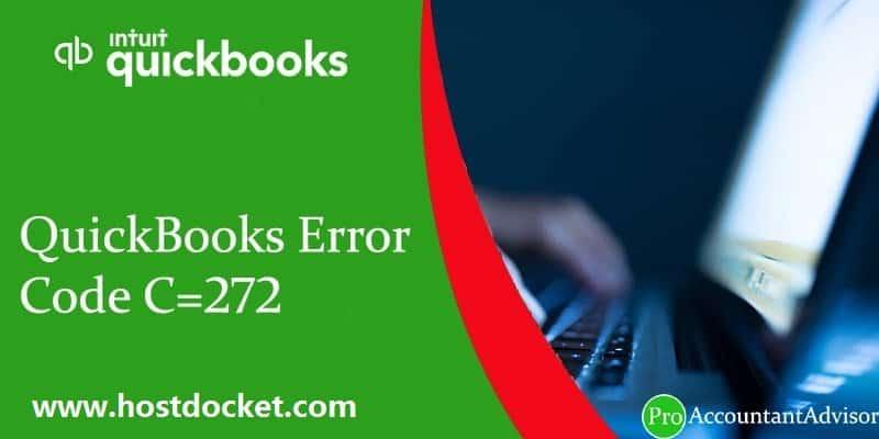 QuickBooks Error Code C-272-Proaccountantadvisor
