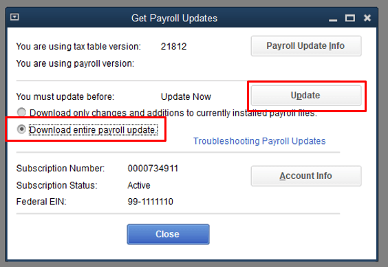 payroll tax table- screenshot