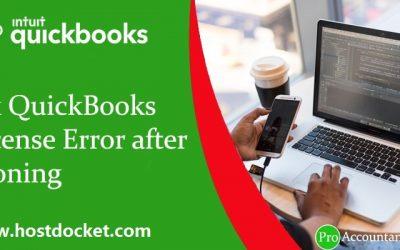 How to Fix QuickBooks License Error after Cloning (License Error)?