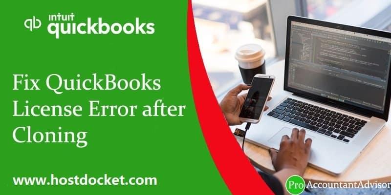 Fix QuickBooks License Error after Cloning-Pro Accountant Advisor