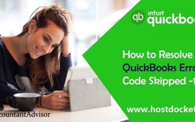 How to Resolve QuickBooks Error Code Skipped 111?