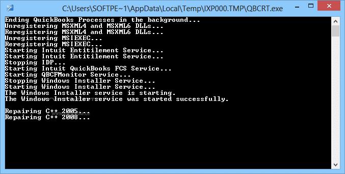 QuickBooks Component Repair Tool - Screenshot
